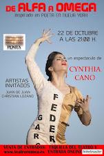 DE ALFA A OMEGA - CYNTHIA CANO - TEATRO ROMEA DE MURCIA 22 DE OCTUBRE 2015: ENTRADAS A LA VENTA