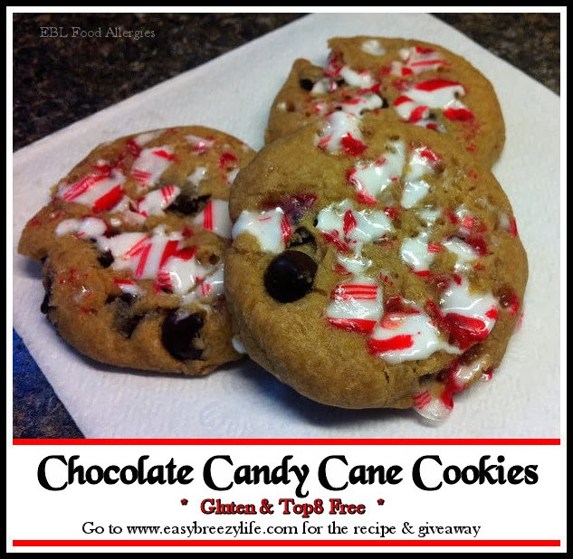 Chocolate Candy Cane Cookies Glutenfree Top8free Allergyfree