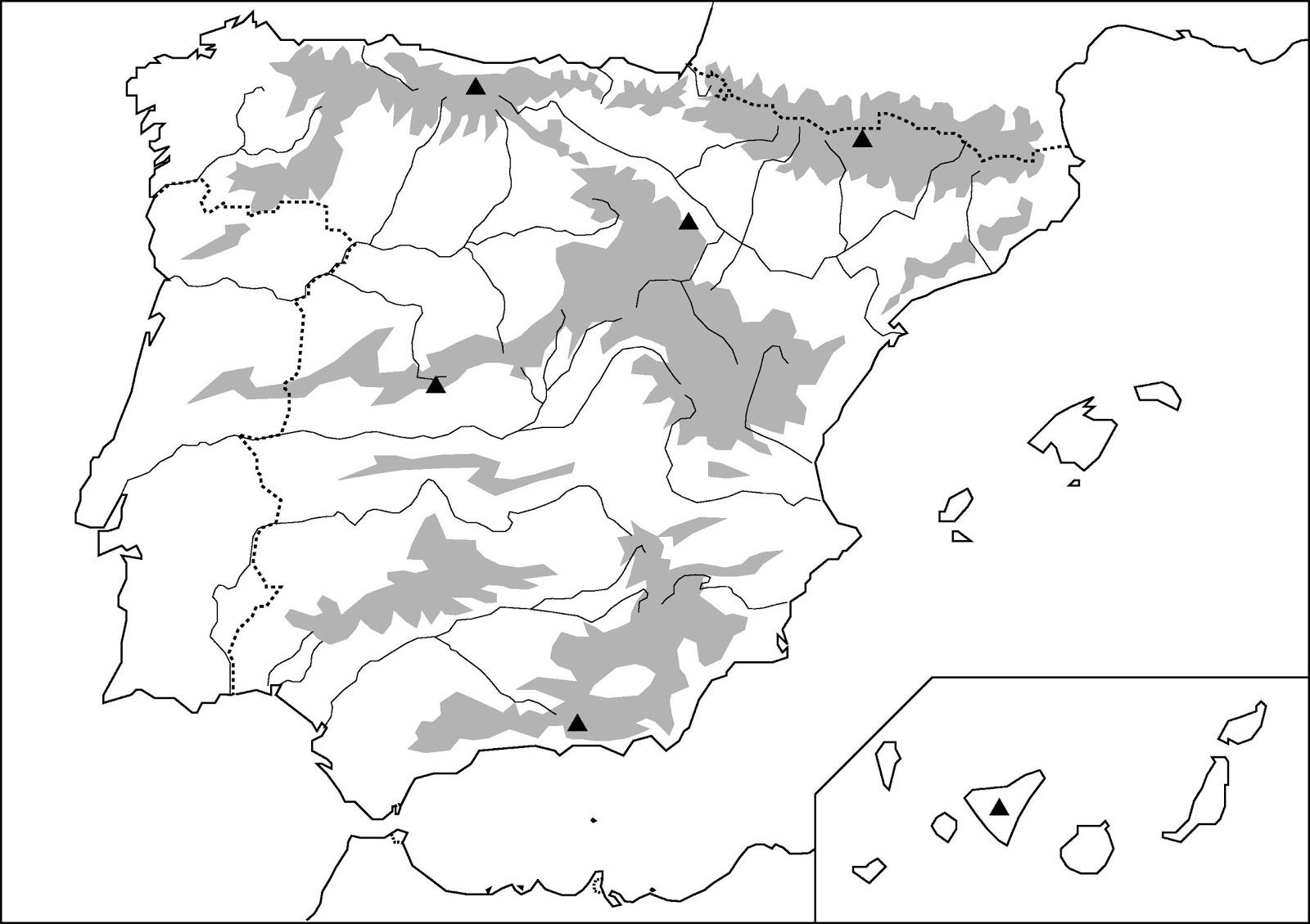 Rios Mapa Mudo Espaa