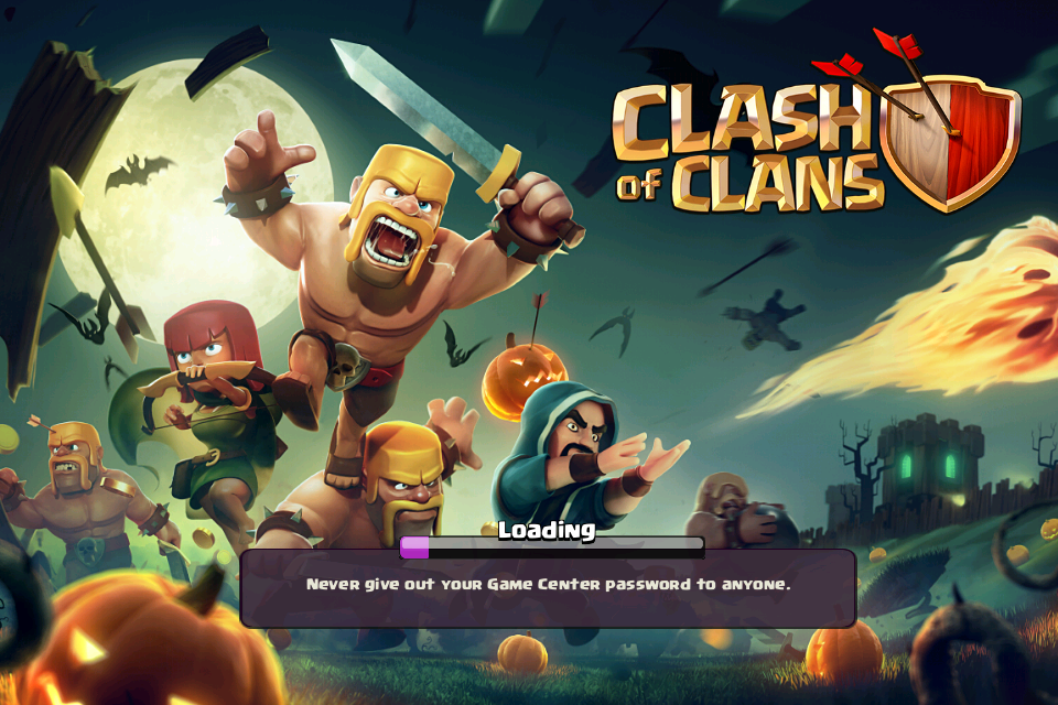 Halloween Clash of Clans Loading Screen