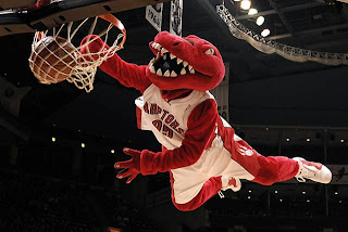 mascot, raptors, toronto, nba, basketball, dunk