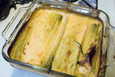 Creamy Baked Leeks