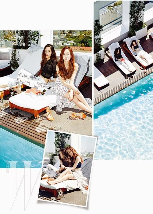 Jessica Girls Generation and Krystal f(x) - W Magazine June 2014