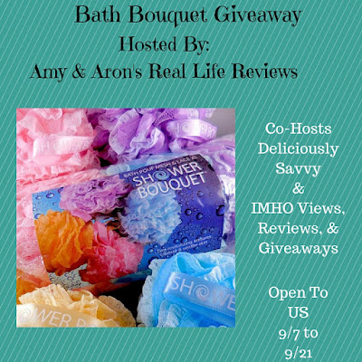 Enter the Shower Bouquet Bath Pouf Giveaway. Ends 9/21