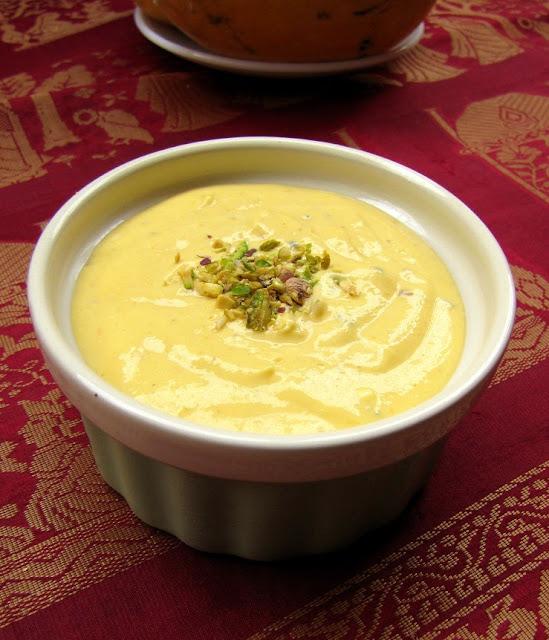 amrakhand / creamy mango flavored yogurt dessert
