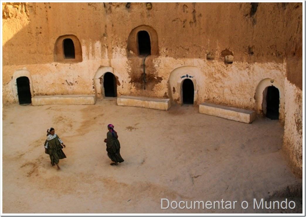 Casas trogloditas de Matmata; Tunísia