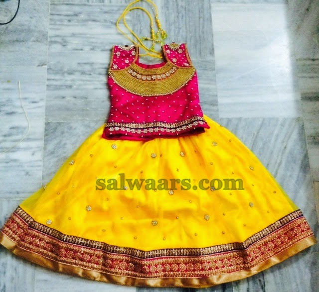 Zardosi Work Yellow Skirt