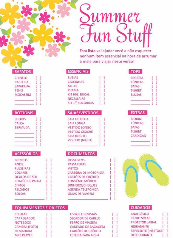 checklist kipling de tudo que vai na mala de verão