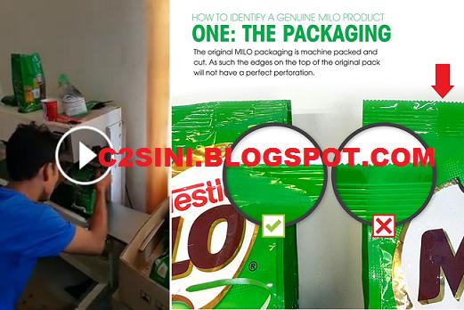 Tips bezakan produk Milo yang asli dan tiruan
