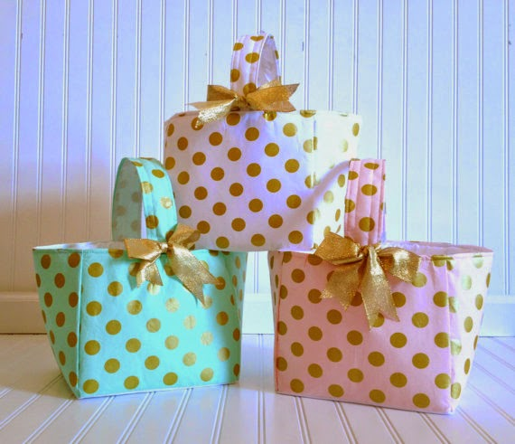 Totally tikaa easter etsy addiction not that i get a easter basket but if i did id like a little pink with gold polka dotted basket this is the kind of etsy find that makes me want negle Choice Image
