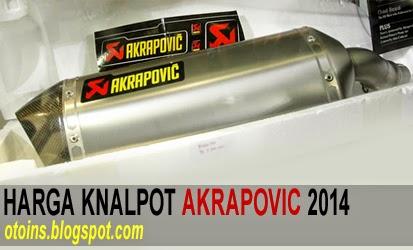 Rincian Harga Knalpot Akrapovic Racing Terbaru 2015