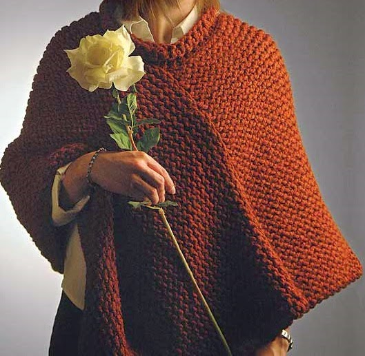 Knitting Pattern Poncho With Collar : The Knifty Knitter: Knifty Knitter Poncho with Collar