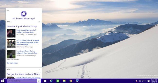 How To Hide The Cortana Search Box On The Windows 10 Taskbar News Gadget