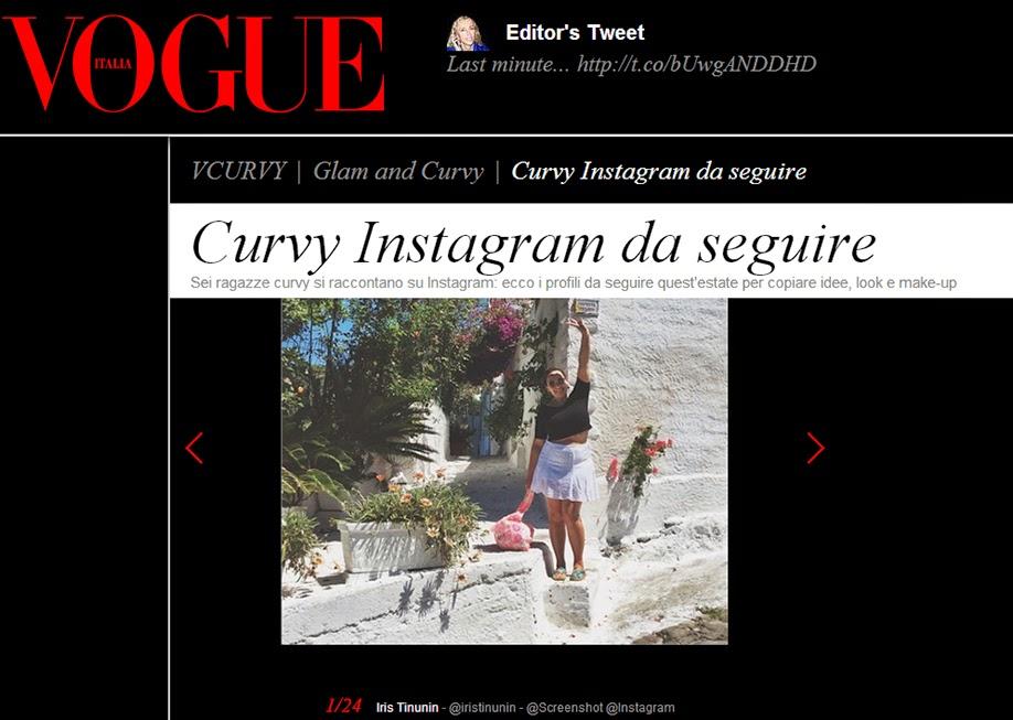 Instagram, chi seguire, profili da seguire, vogue, vogue italia, Iris Tinunin, curvy, blogger