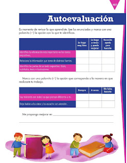 Apoyo Primaria Español 3er grado Bloque 3 Autoevaluación