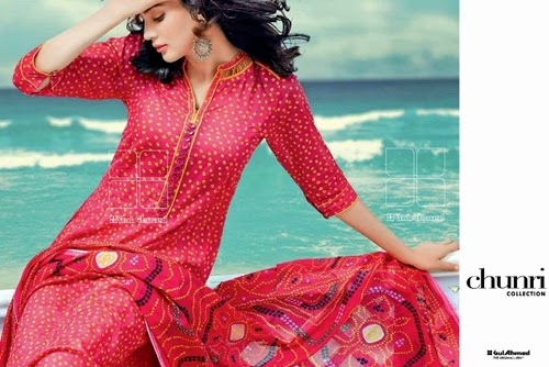 Gul Ahmed Chunri Lawn 2014 Vol-2
