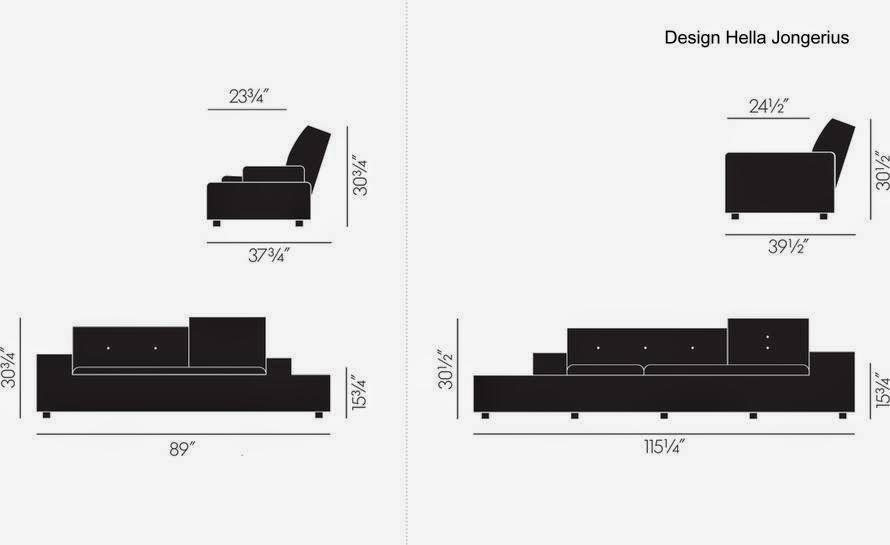 Polder sofa medidas de dos modelos corto y largo