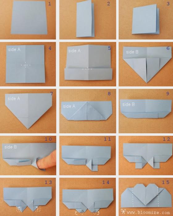 Diy Origami Heart Bookmarks The Idea King