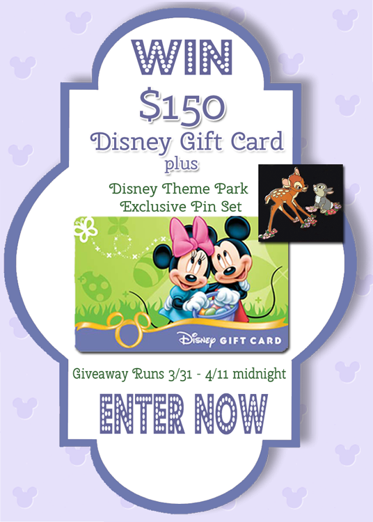 Eggstra Special Giveaway - $150 Disney Gift Card and a Bambi and Thumper Pin Set Giveaway!