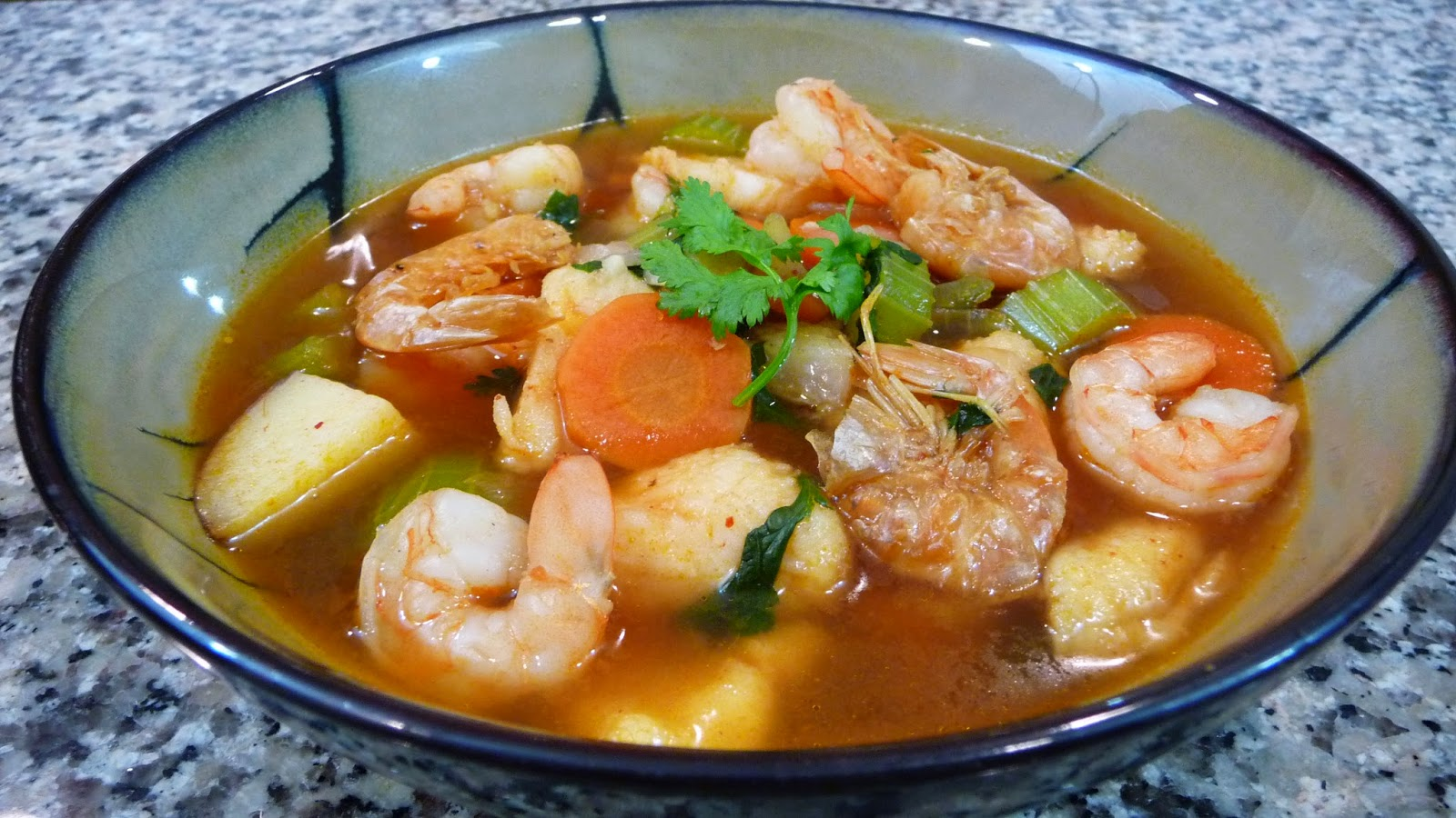 Mexican shrimp soup easy cooking with sandy for Mexican fish soup recipe