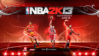 NBA 2K13 Chicago Bulls Jordan, Pippen, Rose Cover
