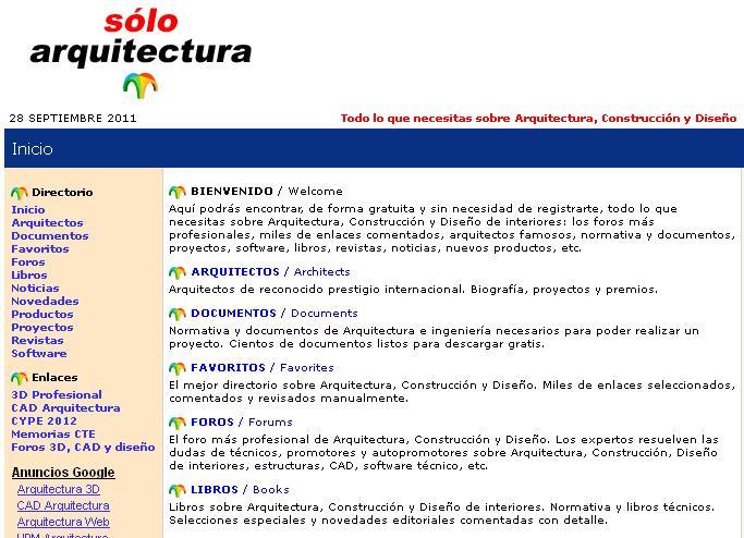 Especial P Ginas Web De Arquitectura E Ingenier A Zarquis