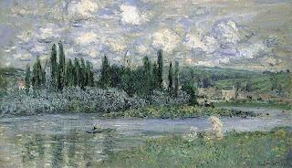 L'Eglise et La Seine a Vetheuil, Claude Monet