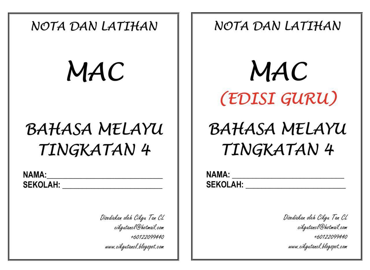 NOTA DAN TUISYEN BAHASA MELAYU KENDIRI (TINGKATAN 4) – MAC