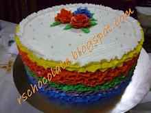 Rainbow Cake (10 inci - 3 kg) - RM 150.00