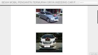Rental MOBIL PENGANTIN MURAH SEWA GRIYA WEDDING CAR JAKARTA PROMO HARGA