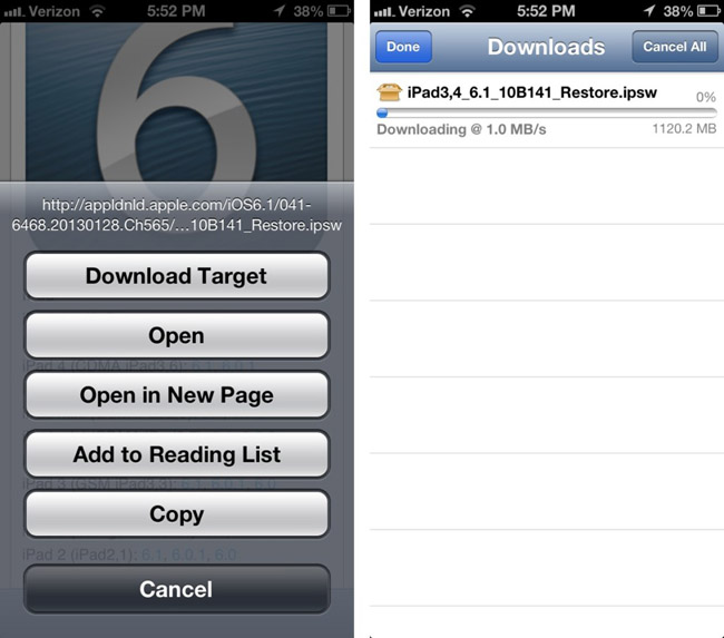 Safari Download Manager tweak review