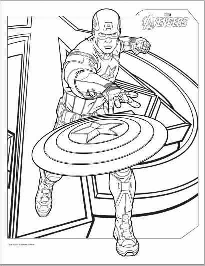 avengers captain america coloring page - Black Widow Marvel Coloring Pages