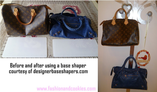 DesignerbaseShapers, basi per borse, base shapers before and after, designer bag shapers, Fashion and Cookies