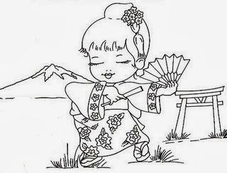 semaninha da volta ao mundo menina oriental