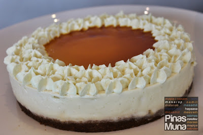 Durian Cheesecake with Passionfruit Glaze