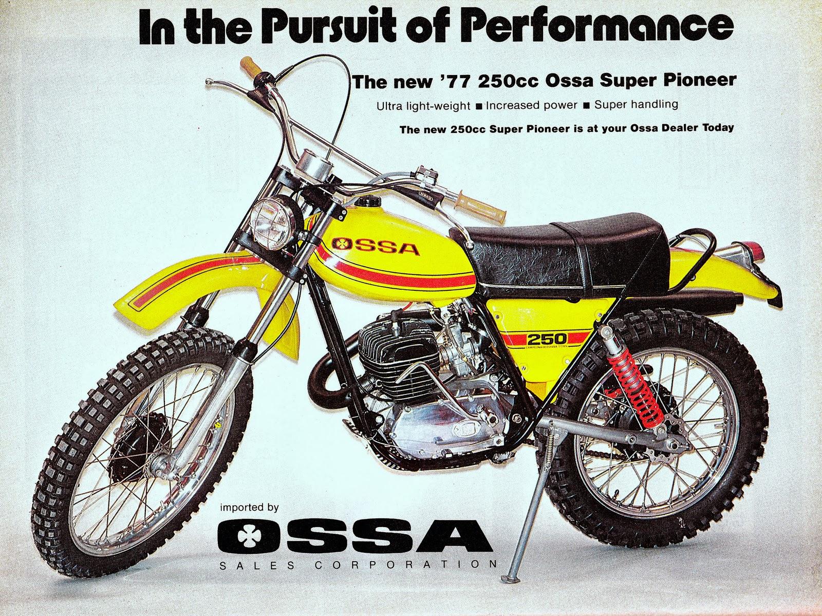 Racing Caf 232 Vintage Brochures Ossa Super Pioneer 250