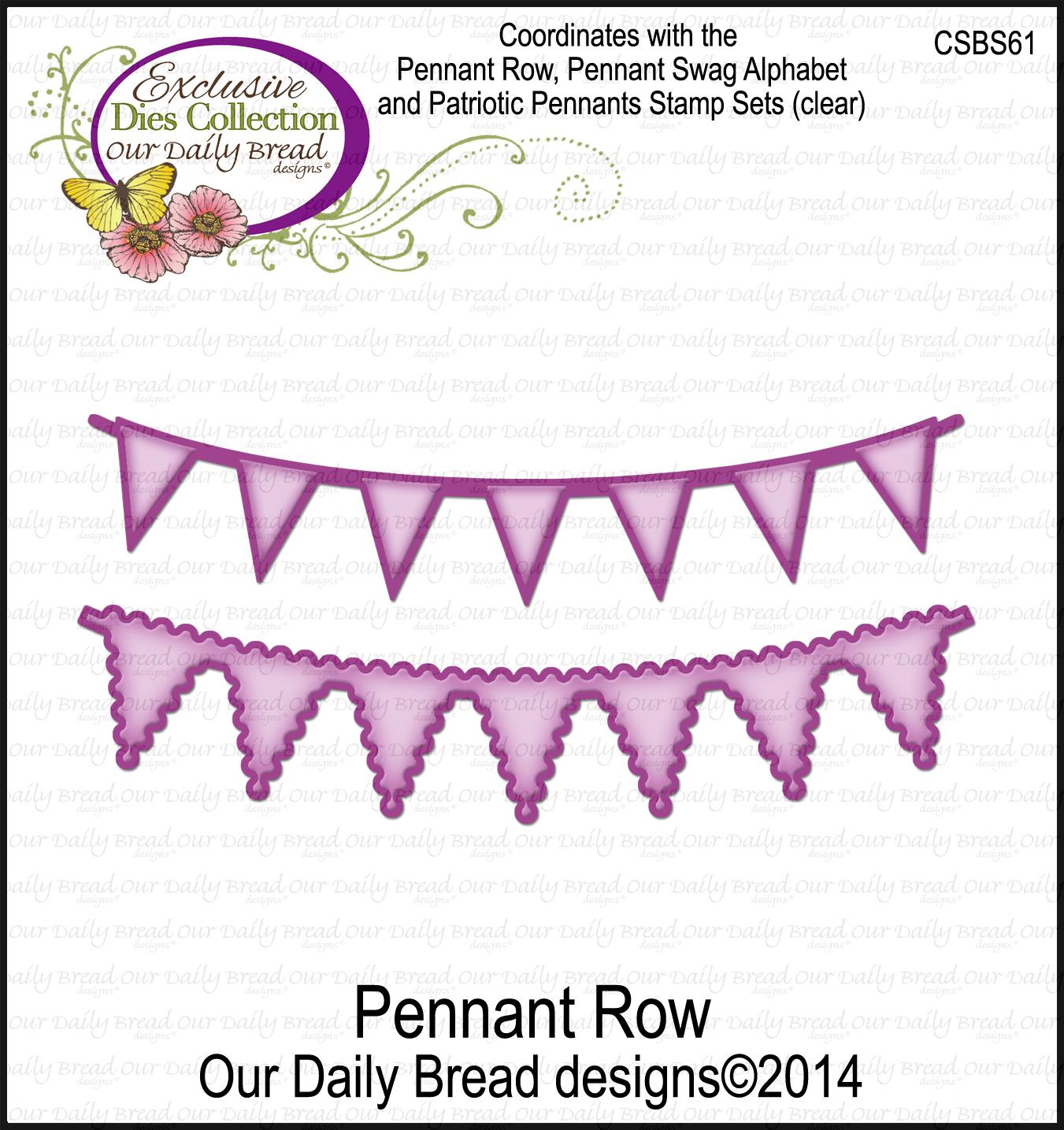 ODBD Custom Pennant Row Die
