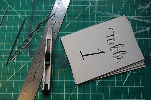 numery na stoliki - instrukcja jak zrobić