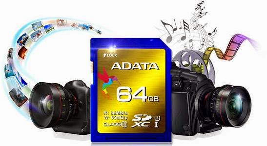 ADATA Introduced SDXC UHS-I Speed Class 3 (U3) Cards