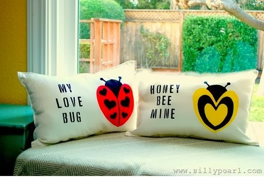 Stenciled Valentine Pillows