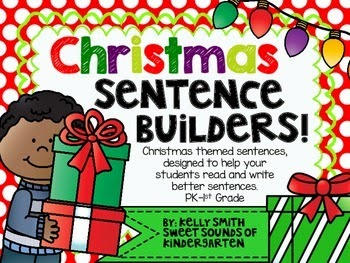 http://www.teacherspayteachers.com/Product/Christmas-Sentence-Builders-1002518