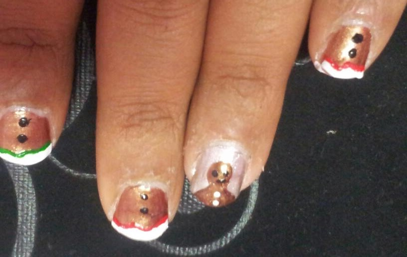 Gingerbread Man Nails (Christmas)   Sugar, Spice and Everything Nice
