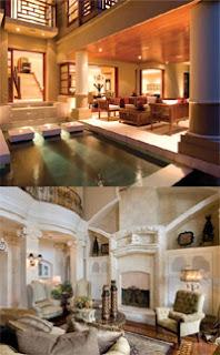 soñando con que vivimos como ricos en una fabulosa mansión de varios pisos con innumerables estancias muy lujosas