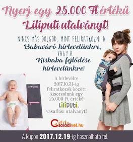 Nyerj egy 25.000 Ft-os Liliputi vásárlási utalványt!