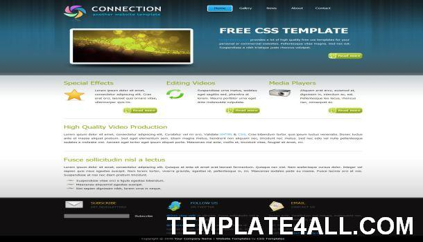 Business Portfolio Blue CSS Website Template