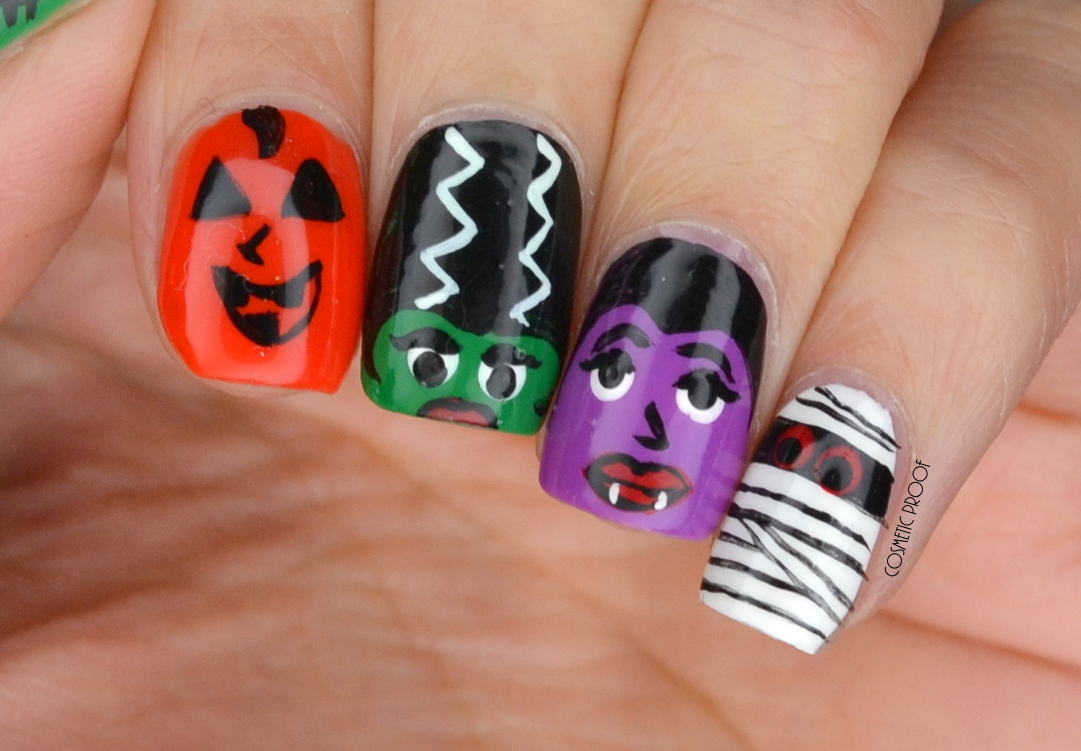 NAILS | Wet n Wild Halloween Monsters Nail Art | Cosmetic Proof ...