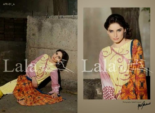 Lala Afreen Winter Shawl Collection 2014