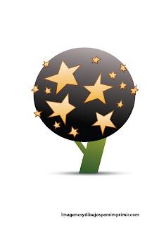 Arboles con hojas en forma de estrella