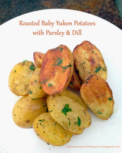 Roasted Yukon Potatoes Herbs Parsley Dill
