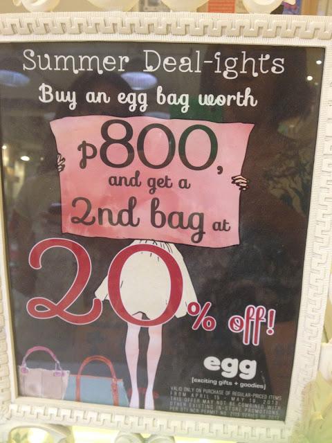 Budget Fashion Seeker - EGG bags promo 1